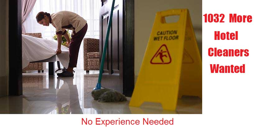 HOTEL CLEANERS NEEDED 1