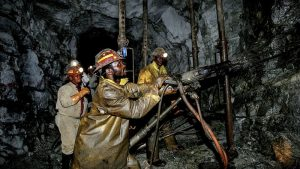 Miner at St. Peter Mining in Lesotho