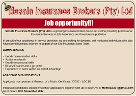 Sales Agents at Mosala Insurance Brokers 1