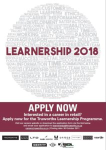 Truworths is Offering Learnerships